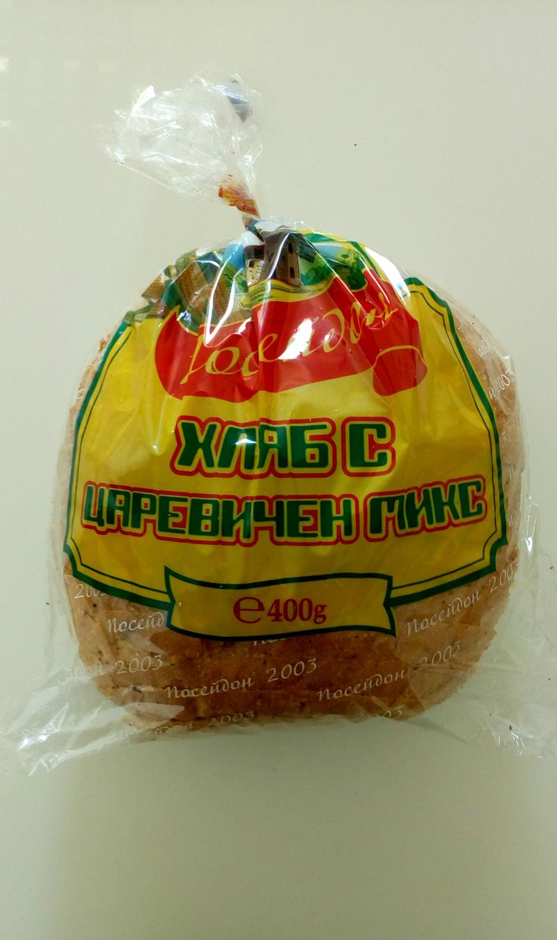 ХЛЯБ С ЦАРЕВИЧЕН МИКС 0,400g ПАКЕТ НАРЯЗАН